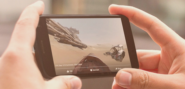 Facebook introduce i video a 360°