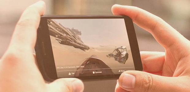 Facebook introduce i video a 360°