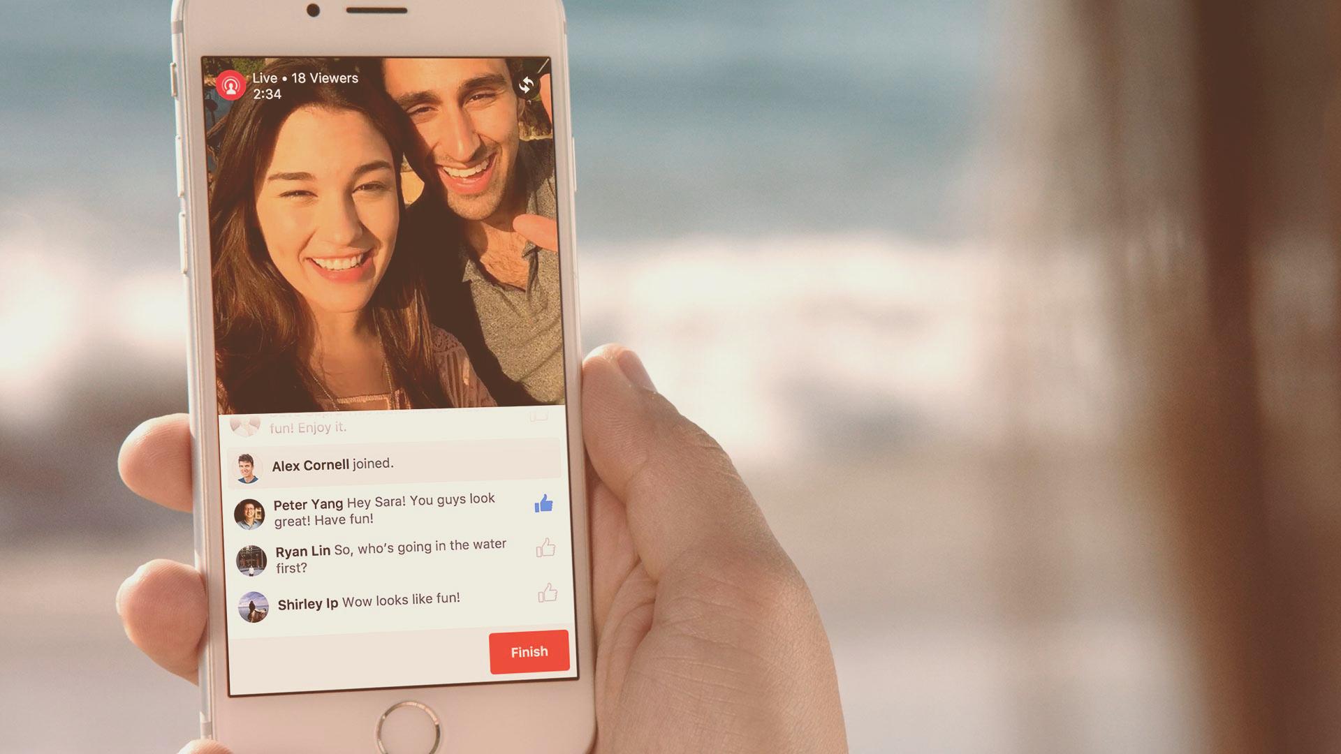 Facebook: a qualcuno piace live