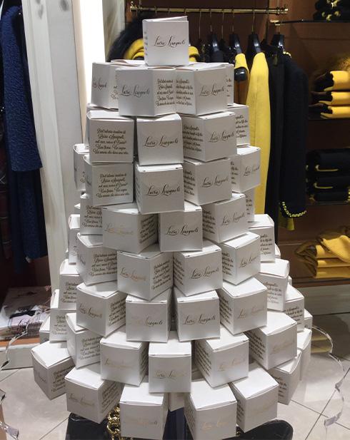 Brand engagement Luisa Spagnoli Scatoline in-store promotion #VFNO2015 Milano